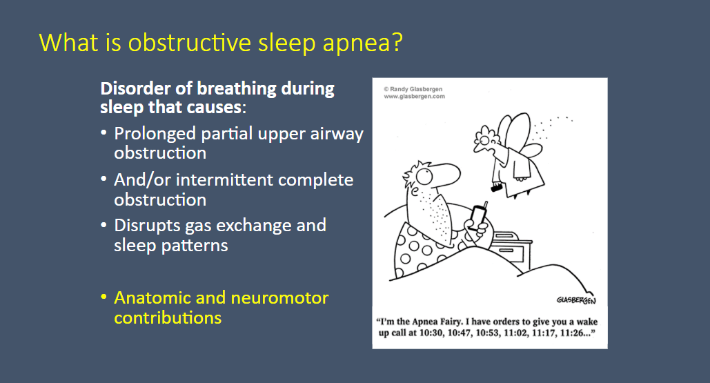 Pediatric Obstructive Sleep Apnea Lecture From CHOP | Tom
